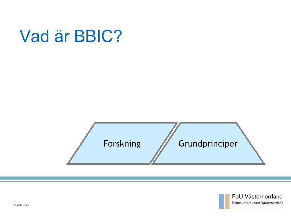 Vad är BBIC? Forskning Grundprinciper KA 2003-03-26