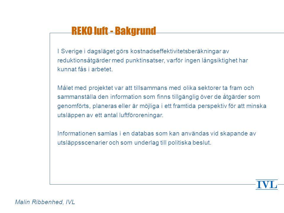 REKO luft - Organisation för dataförsörjning och uppdatering Vem ska samla in data.