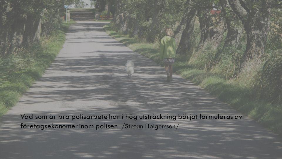 Vad som är bra polisarbete har i hög utsträckning börjat formuleras av företagsekonomer inom polisen /Stefan Holgersson/