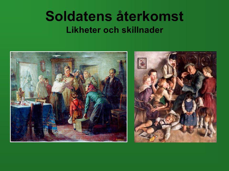Soldatens återkomst Likheter och skillnader