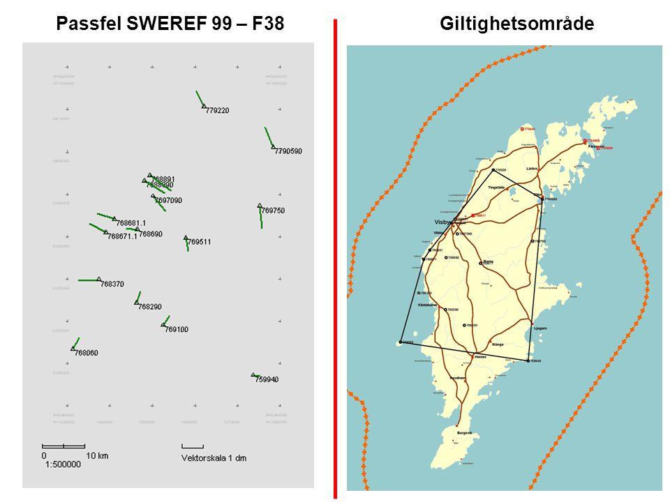 Passfel SWEREF 99 – F38 Giltighetsområde