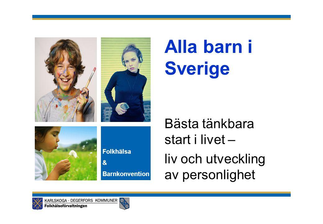 Sveriges fjärde rapport till barnrättskommittén Rekommendationer/kommentarer från barnrättskommitén: •Kommittén (K) är oroad över att många tonåriga flickor i Sverige gör abort och att unga missbrukar alkohol, röker och använder droger.