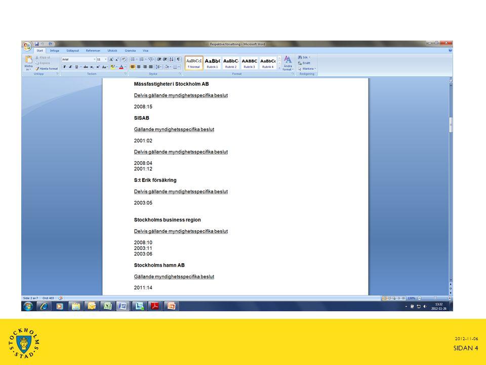 Hur använder ni dokumenten.