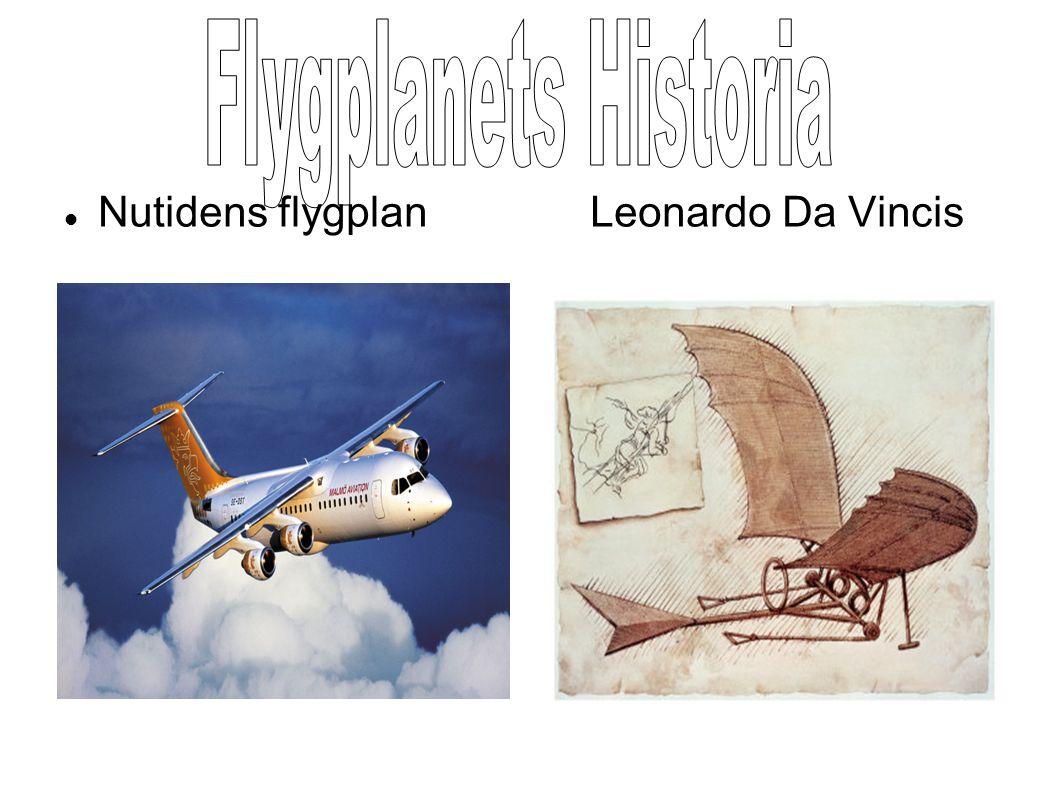  Nutidens flygplan Leonardo Da Vincis