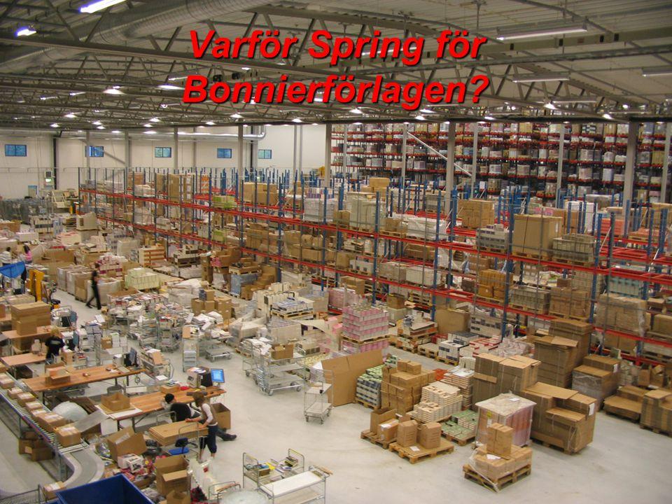 Varför Spring för Bonnierförlagen?
