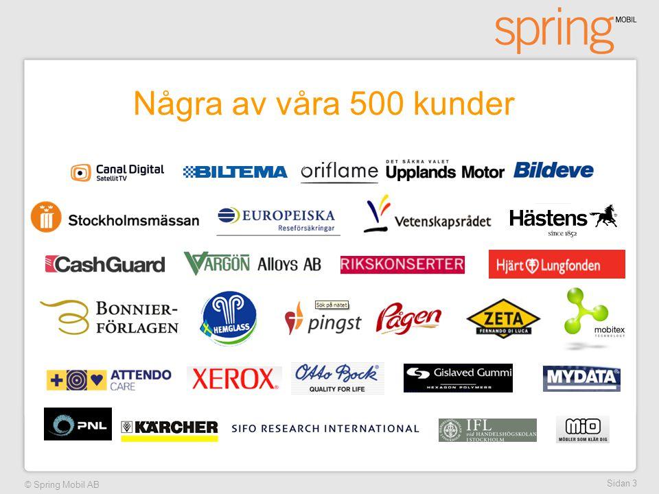 © Spring Mobil AB Sidan 3 Några av våra 500 kunder