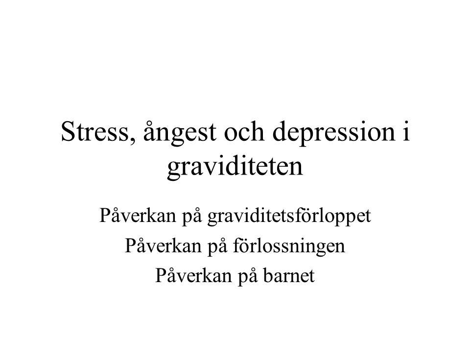 Mängd streess •Ej nödvändigtvis kliniska nivåer eller psykisk diagnos •Utan också vid relativt låga nivåer •Variationsvidden av mängden o nivå av stress som påverkar barnet är påtaglig •Finns över hela ångest spektrat