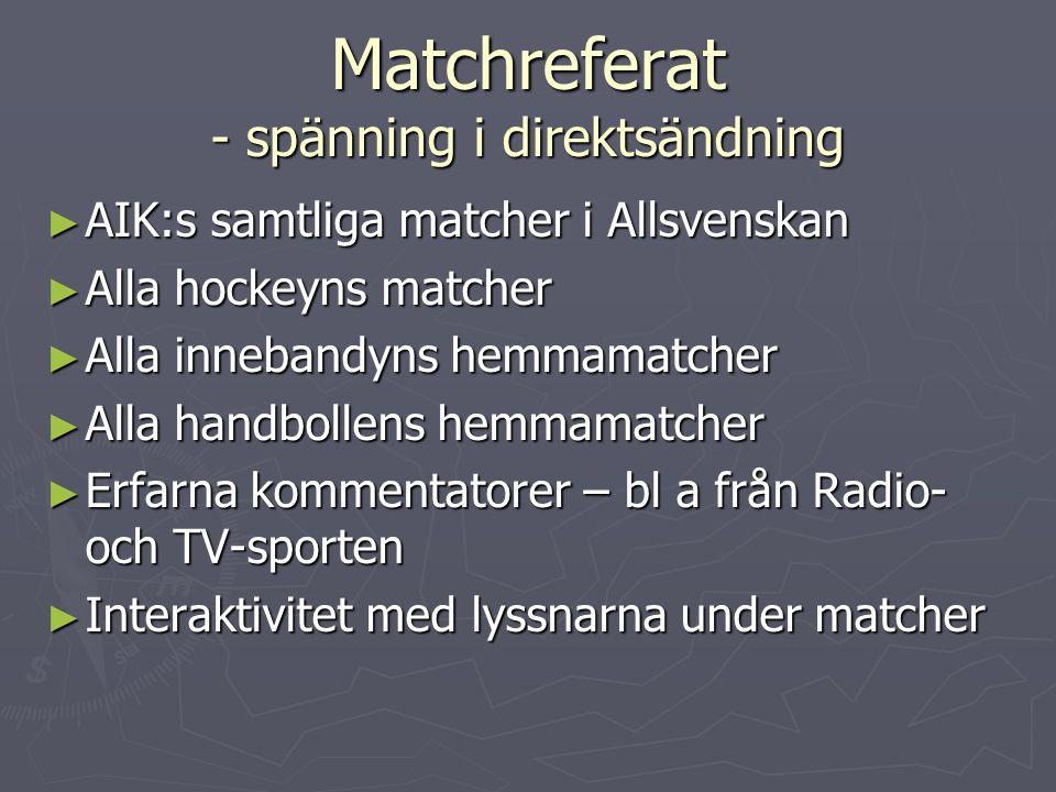 Kontakt AIK Webbradio Solnavägen 45, 169 51 Solna (fakturaadress) Tel.