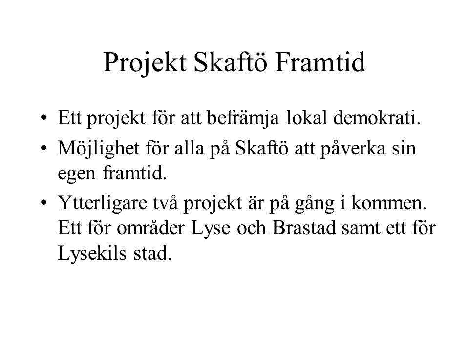 Projekt Skaftö Framtid •Ett projekt för att befrämja lokal demokrati.