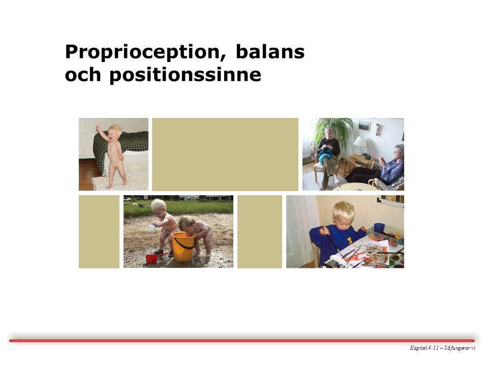Kapitel 4:11 – Så fungerar vi Proprioception, balans och positionssinne
