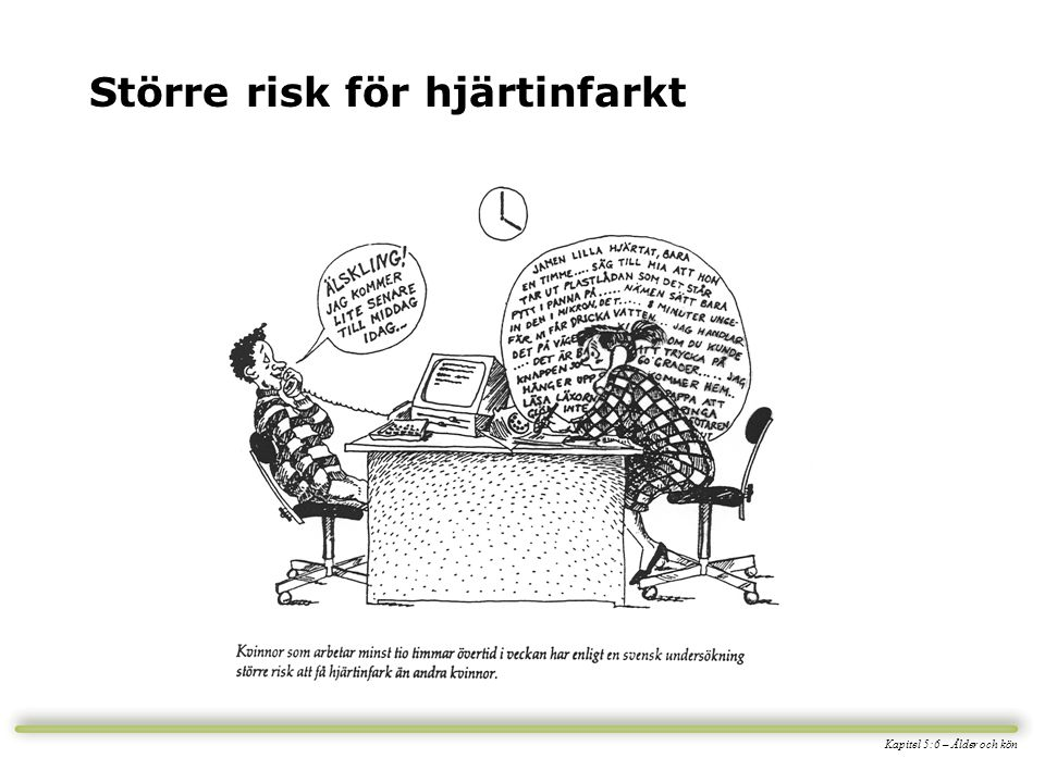 Större risk för hjärtinfarkt Kapitel 5:6 – Ålder och kön