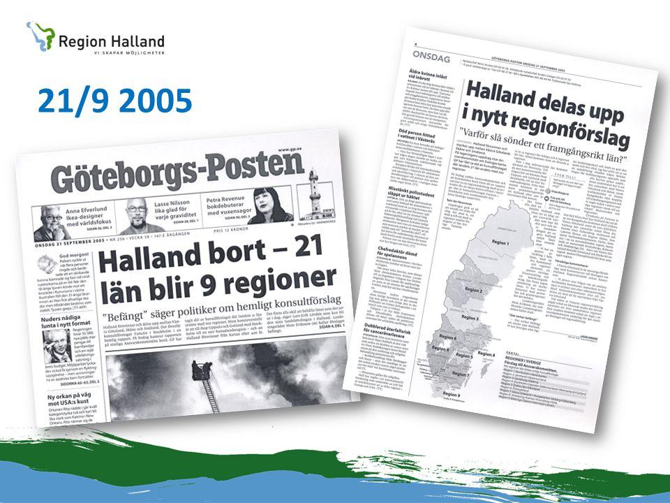Hallandsärendet •En systematisk genomgång av de 16 politikområden som tas upp i Jan-Åke Björklunds skrift Regionaliseringen och det politiska ledarskapet .