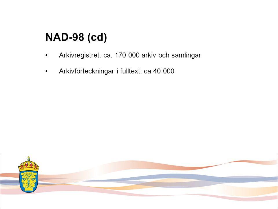 Nya NAD / SVAR Förhoppningsvis också… •Nå informationsinnehållet även via Google etc.