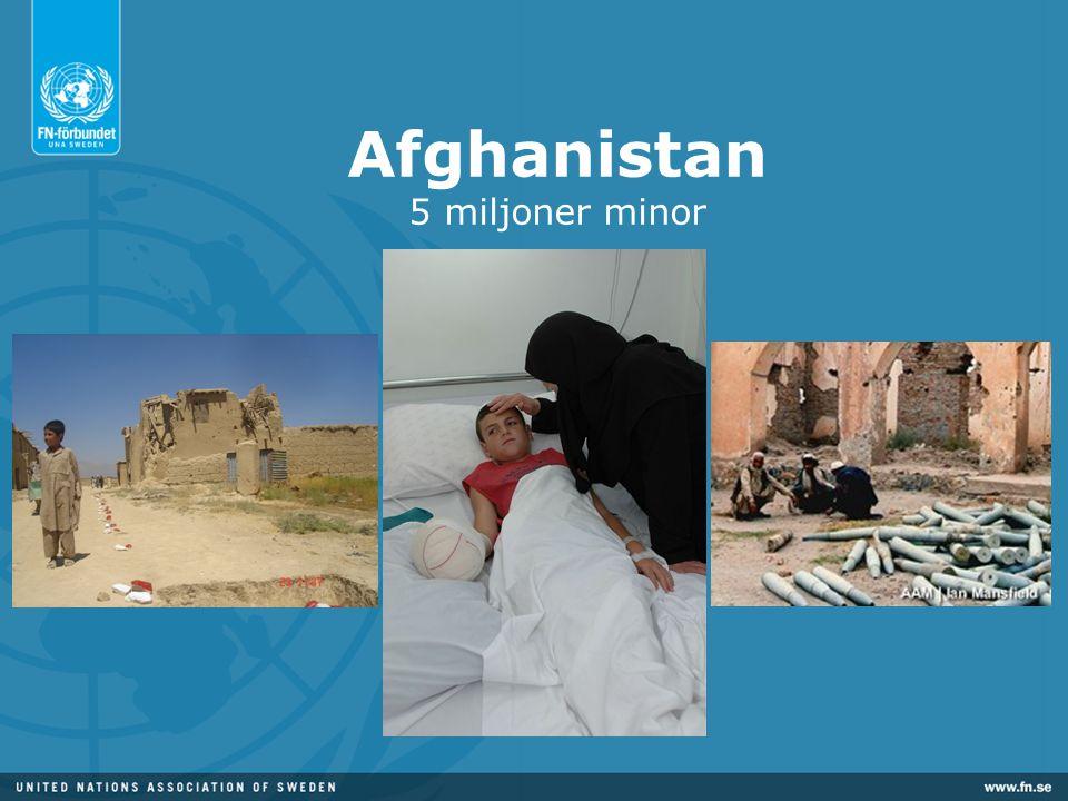 Afghanistan 5 miljoner minor