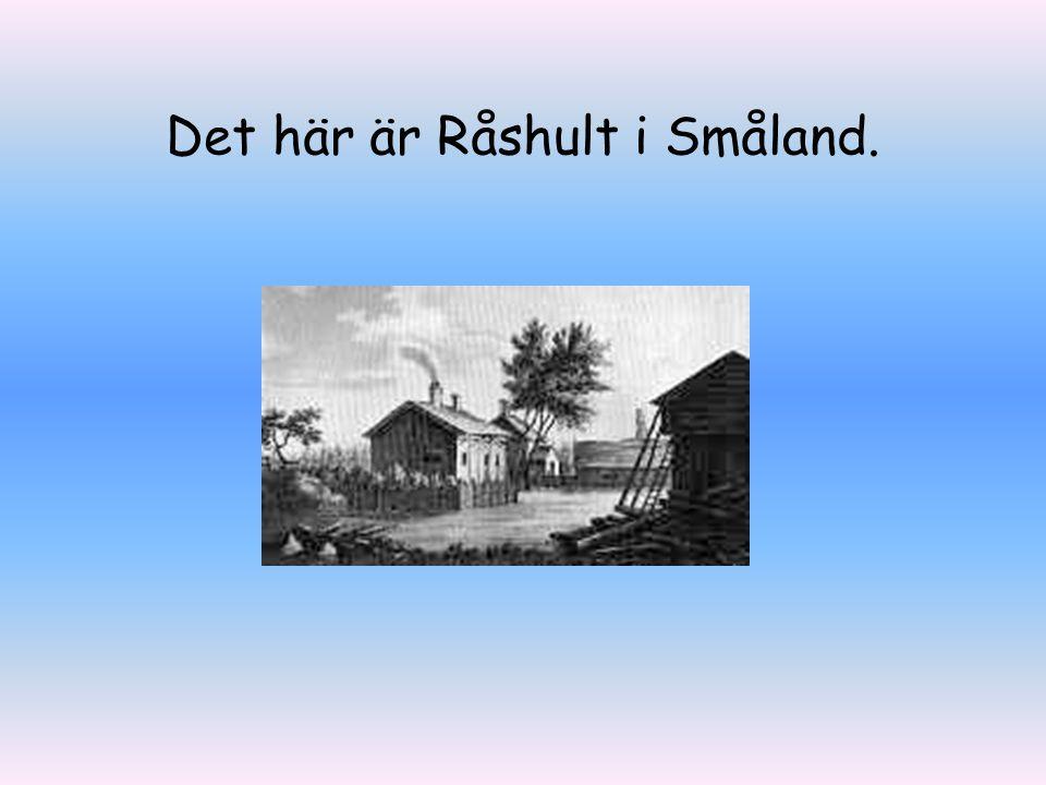 Carl von Linné föddes i en by i Småland, hans far var präst.