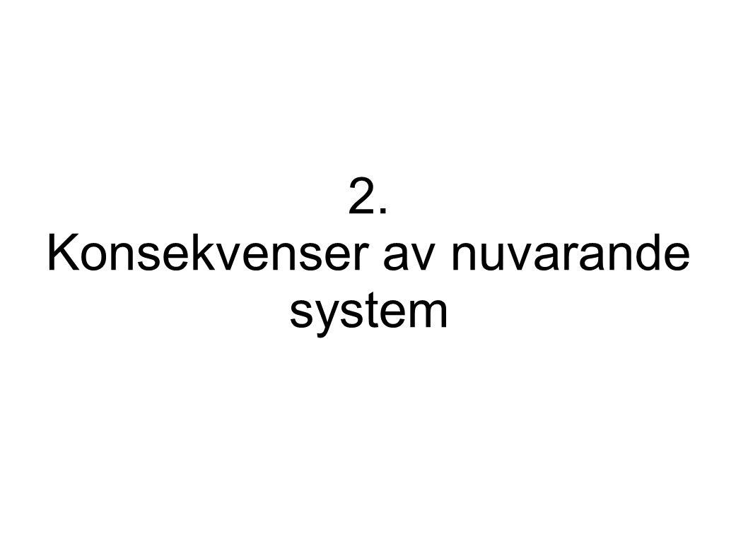 2. Konsekvenser av nuvarande system