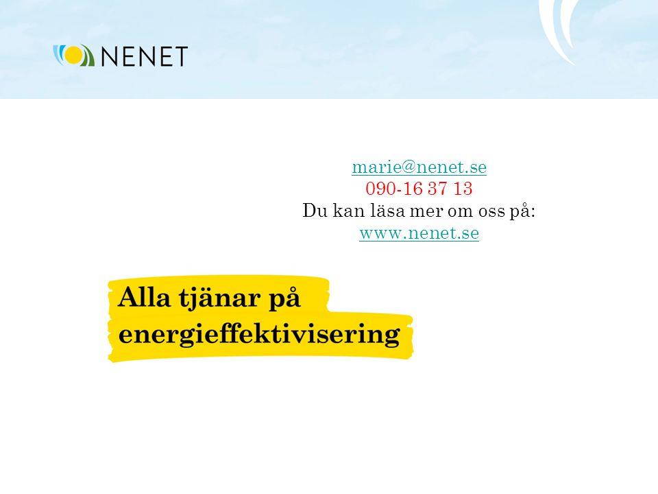 marie@nenet.se marie@nenet.se 090-16 37 13 Du kan läsa mer om oss på: www.nenet.se www.nenet.se