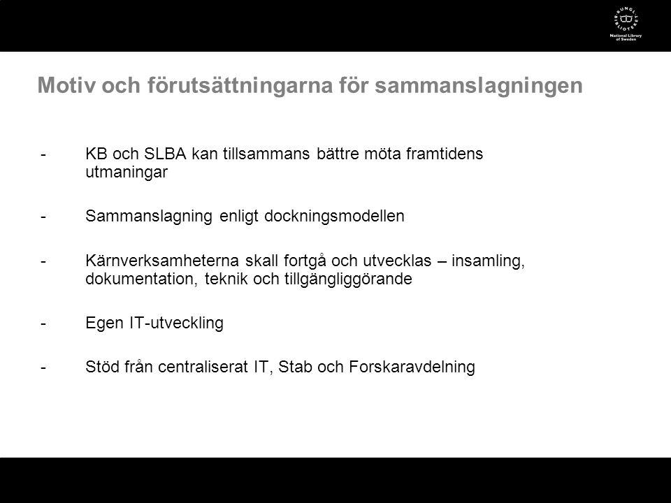 -Huvuduppgiften är att samla in, beskriva, bevara och tillgängliggöra det svenska kulturarvet i form av ljud och rörlig bild -Samlingarna innehåller idag över 7 miljoner timmar audiovisuellt material -Ca 2,5 million timmar är direkt tillgängliga som digitala filer -Över 300 000 timmar/år samlas in som digitala filer via nätverk -Avdelningens digitaliserings-/migreringssystem har en kapacitet på över 2 500 timmar/dag Avdelningen i korthet