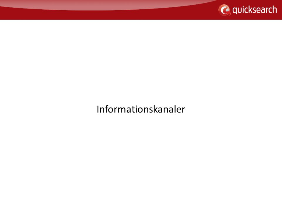 Informationskanaler