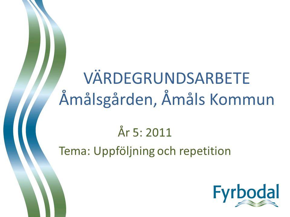 VÄRDEGRUNDSARBETE Åmålsgården, Åmåls Kommun År 5: 2011 Tema: Uppföljning och repetition