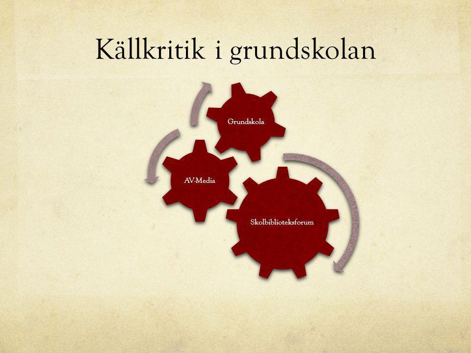 Källkritik i grundskolan Skolbiblioteksforum AV-Media Grundskola