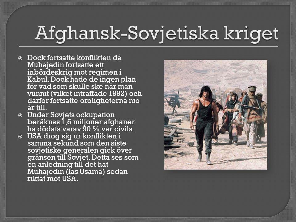  Dock fortsatte konflikten då Muhajedin fortsatte ett inbördeskrig mot regimen i Kabul.