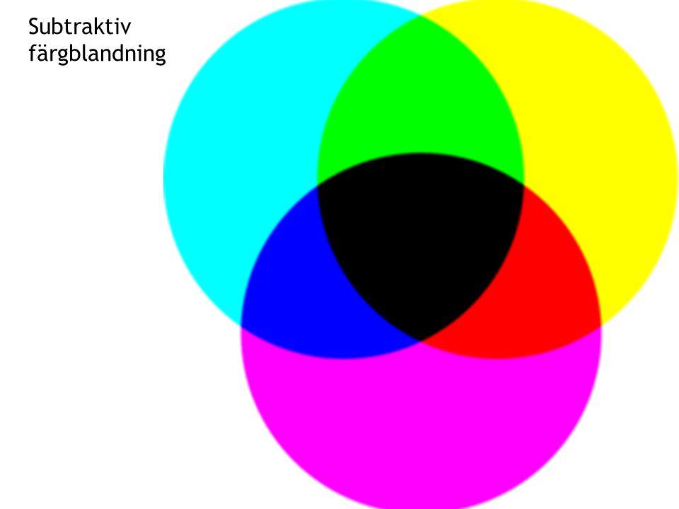 Subtraktiv färgblandning