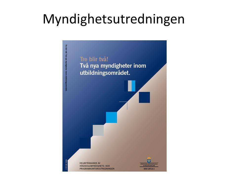 Två nya myndigheter inrättas från och med den 1 januari 2013 med ca 210 respektive 90 årsarbetskrafter.