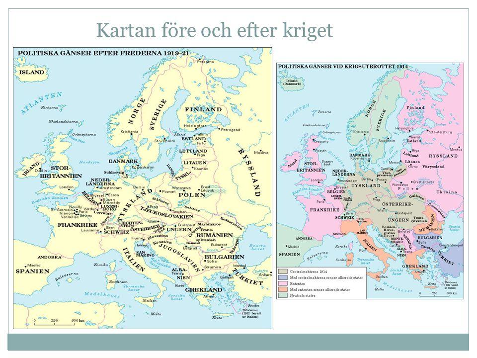 Kartan före och efter kriget