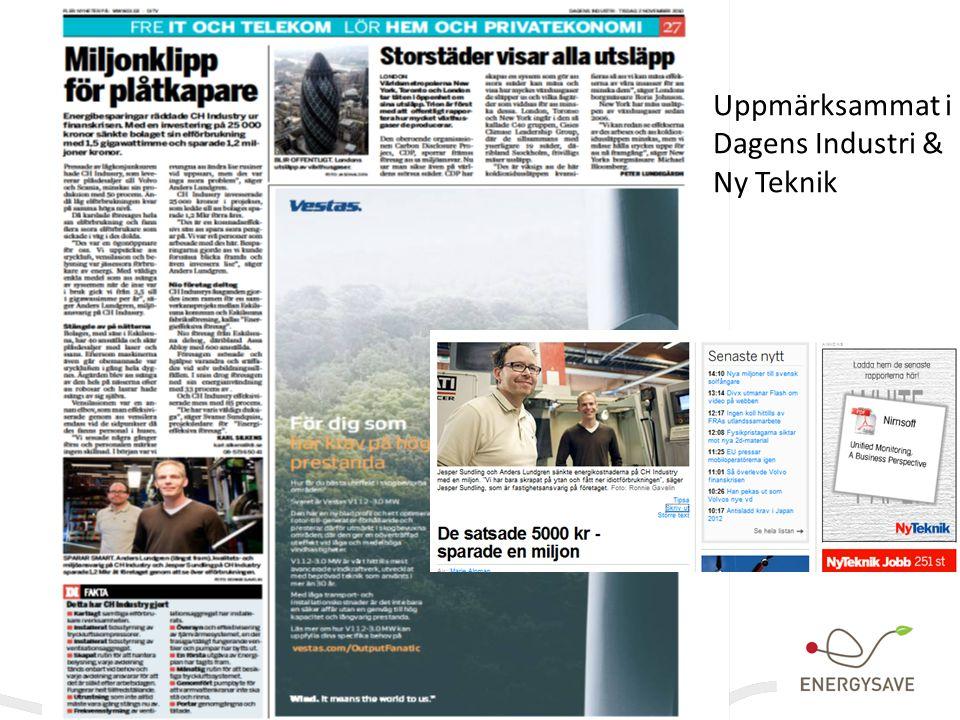 Uppmärksammat i Dagens Industri & Ny Teknik