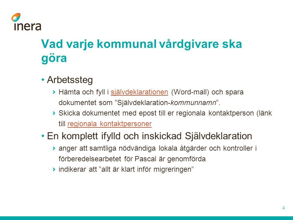 """Vad varje kommunal vårdgivare ska göra •Arbetssteg Hämta och fyll i självdeklarationen (Word-mall) och spara dokumentet som """"Självdeklaration-kommunna"""