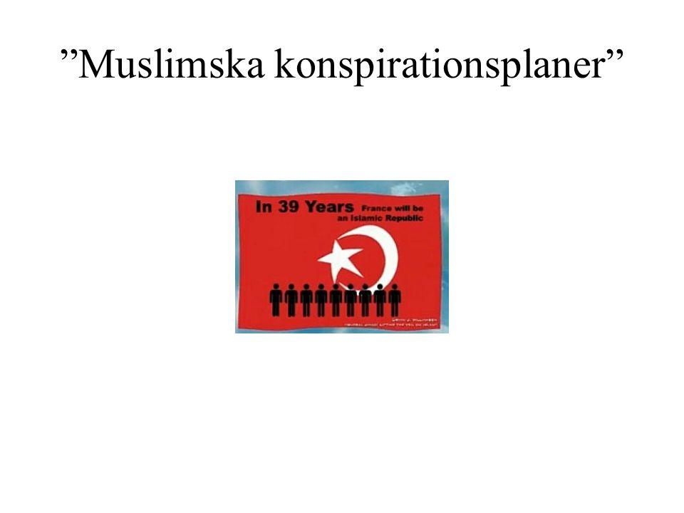 """""""Muslimska konspirationsplaner"""""""