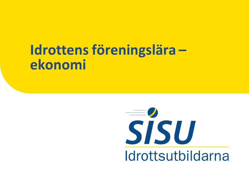 Idrottens finansiering IDROTTENS FÖRENINGSLÄRA – EKONOMI Offentlig sektor Idrotten Ex.