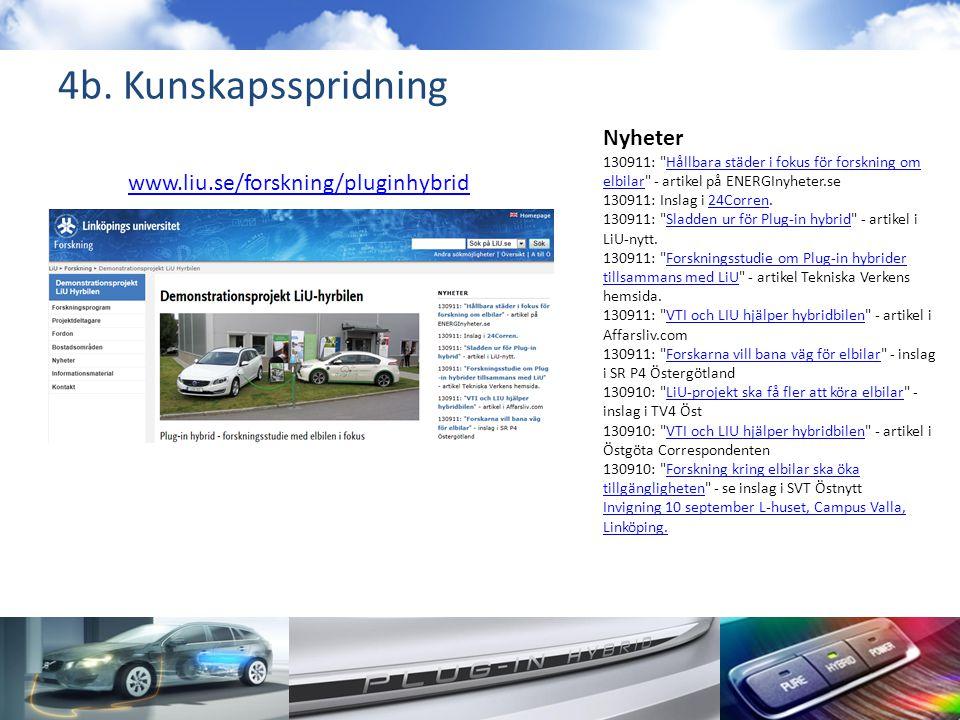 4b. Kunskapsspridning Nyheter 130911: