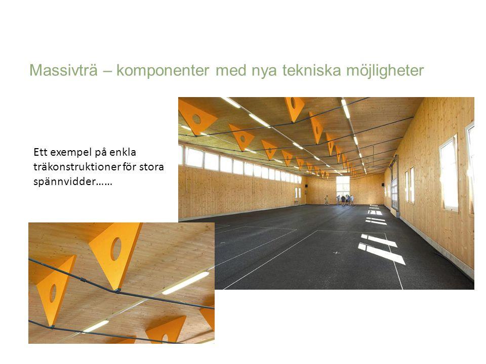 Ett exempel på enkla träkonstruktioner för stora spännvidder…… Massivträ – komponenter med nya tekniska möjligheter