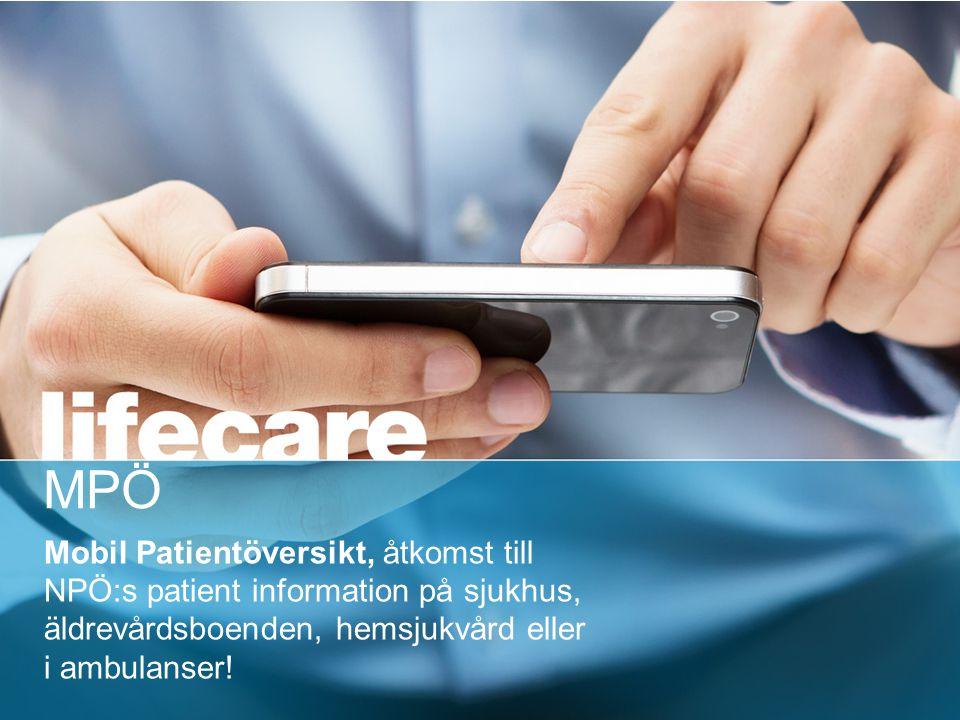 © Tieto Corporation Public Nationell- & Mobil Patientöversikt (NPÖ & MPÖ) 2013 NPÖ & MPÖ Mobil Patientöversikt, åtkomst till NPÖ:s patient information på sjukhus, äldrevårdsboenden, hemsjukvård eller i ambulanser.