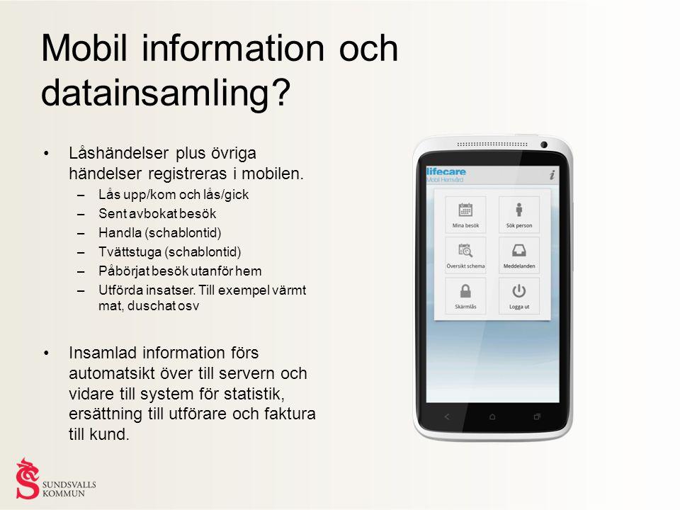 •Låshändelser plus övriga händelser registreras i mobilen.