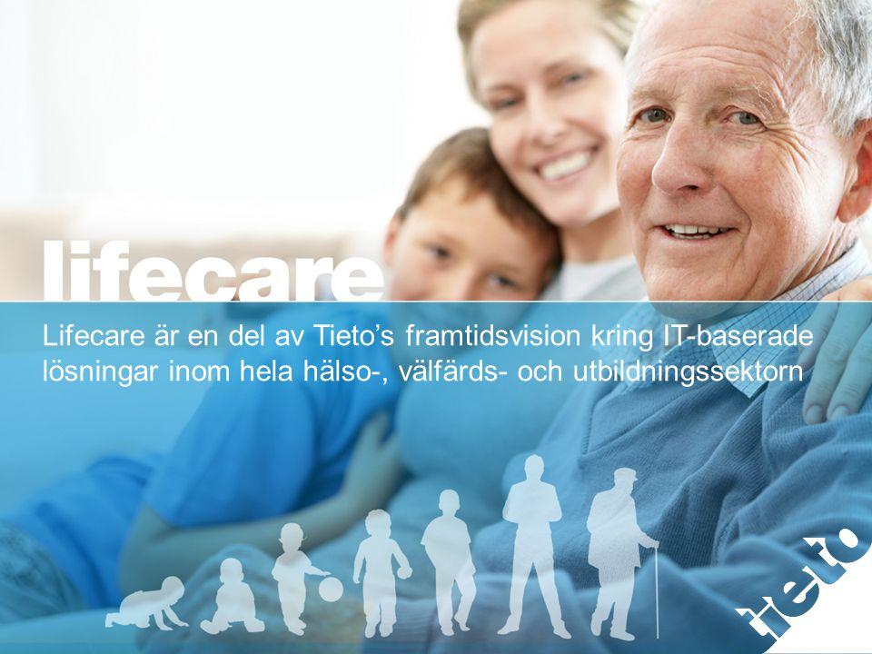 © 2013 Tieto Corporation Lifecare är en del av Tieto's framtidsvision kring IT-baserade lösningar inom hela hälso-, välfärds- och utbildningssektorn