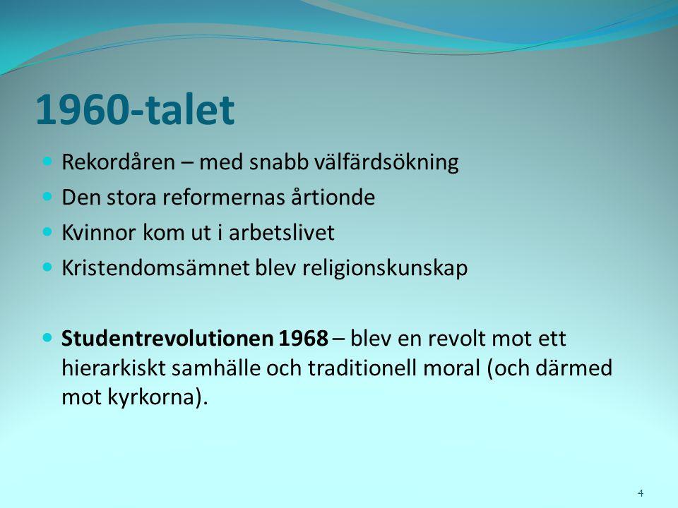 Thorleif Pettersson (professor i religionssociologi – Uppsala) Det finns inget som hindrar att ett mer intensivt utåtriktat arbete bland kyrkor och samfund så småningom ger resultat...