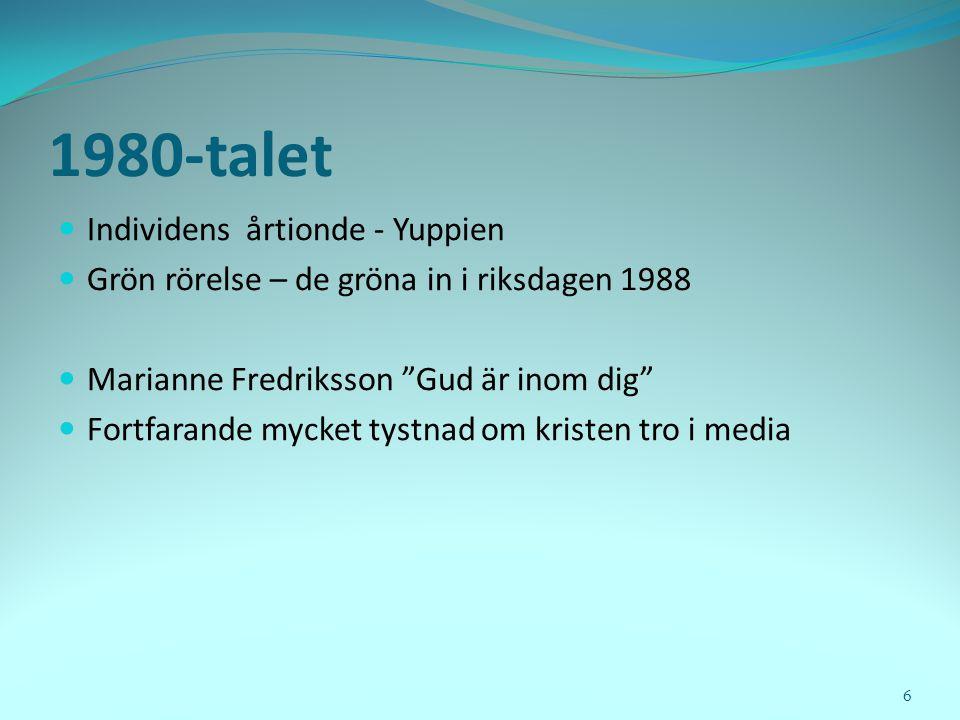 Frikyrkan flyttar - En studie av frikyrkornas utveckling i Sverige 2000-2010 Öyvind Tholvsen, 2011 57