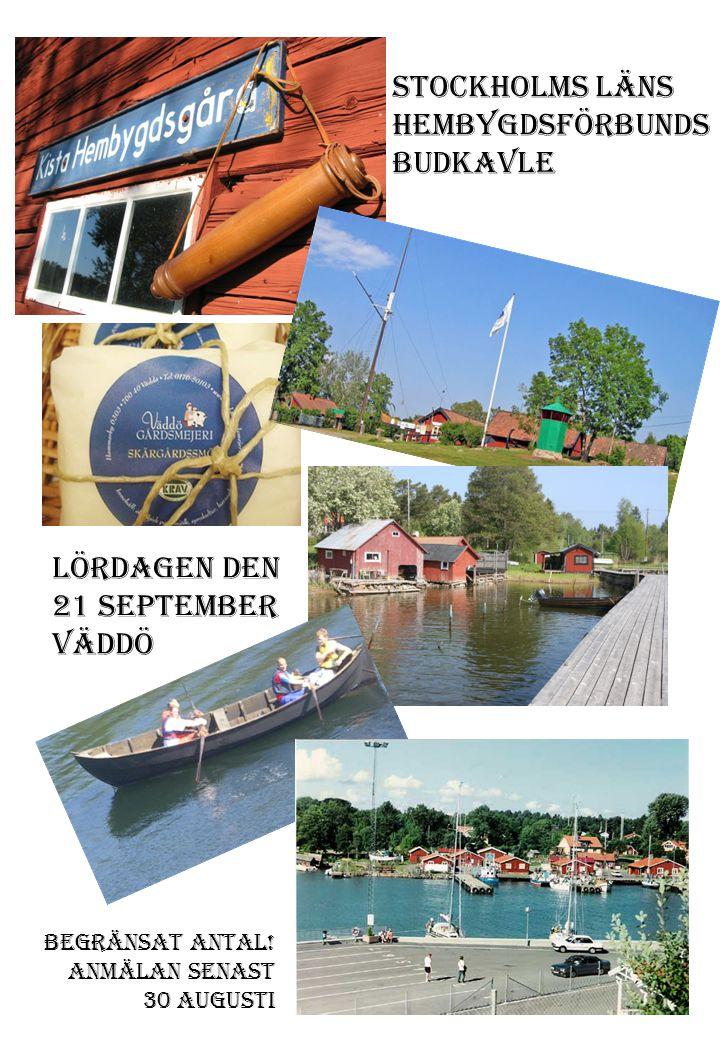 Välkomna till Väddö lördag den 21 september 2013.