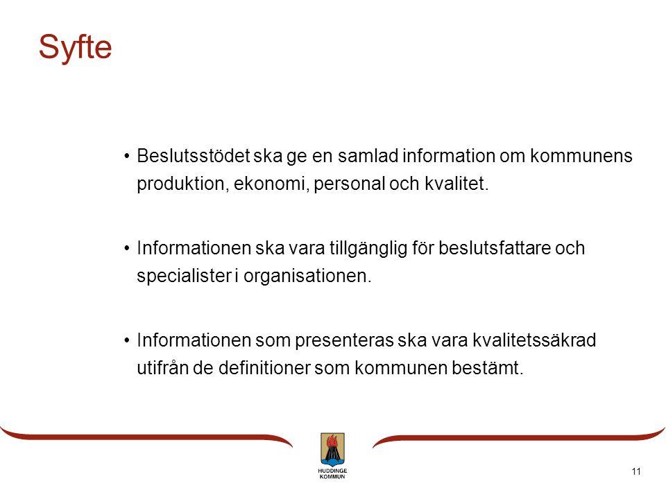 10 Mål  Det kommungemensamma beslutsstödet LIS ska vara utvecklat och i drift för alla förvaltningar till i december 2010.  Beslutstödet ska utveckl