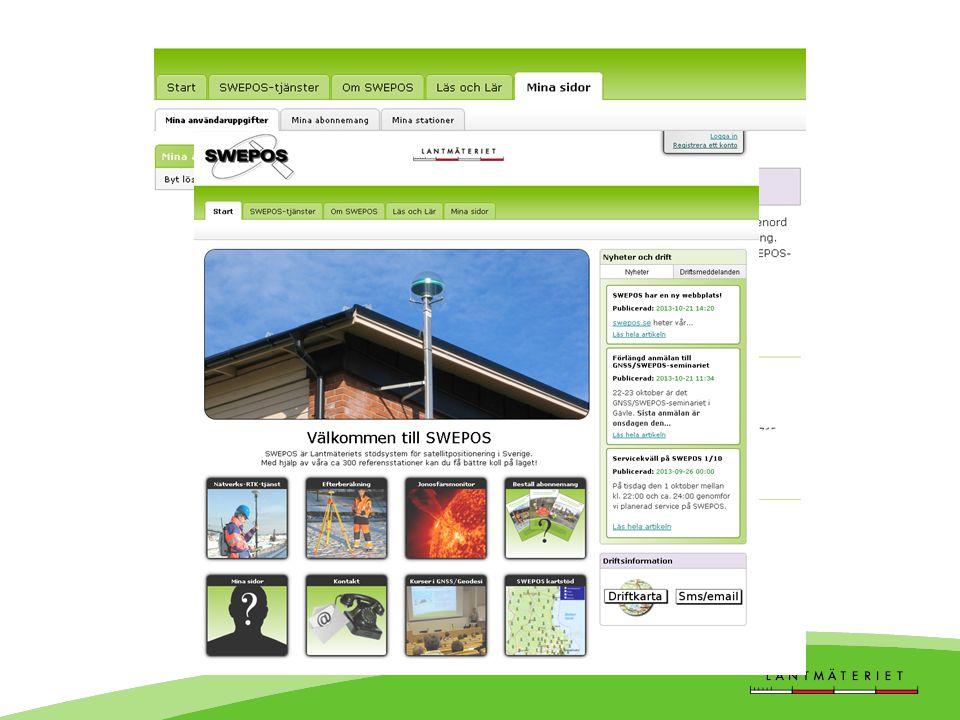 Ny SWEPOS-hemsida