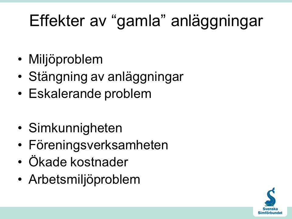 Hur ser utmaningarna ut.•Inom 13 år har hälften av alla simanläggningar i Sverige passerat 50 år.