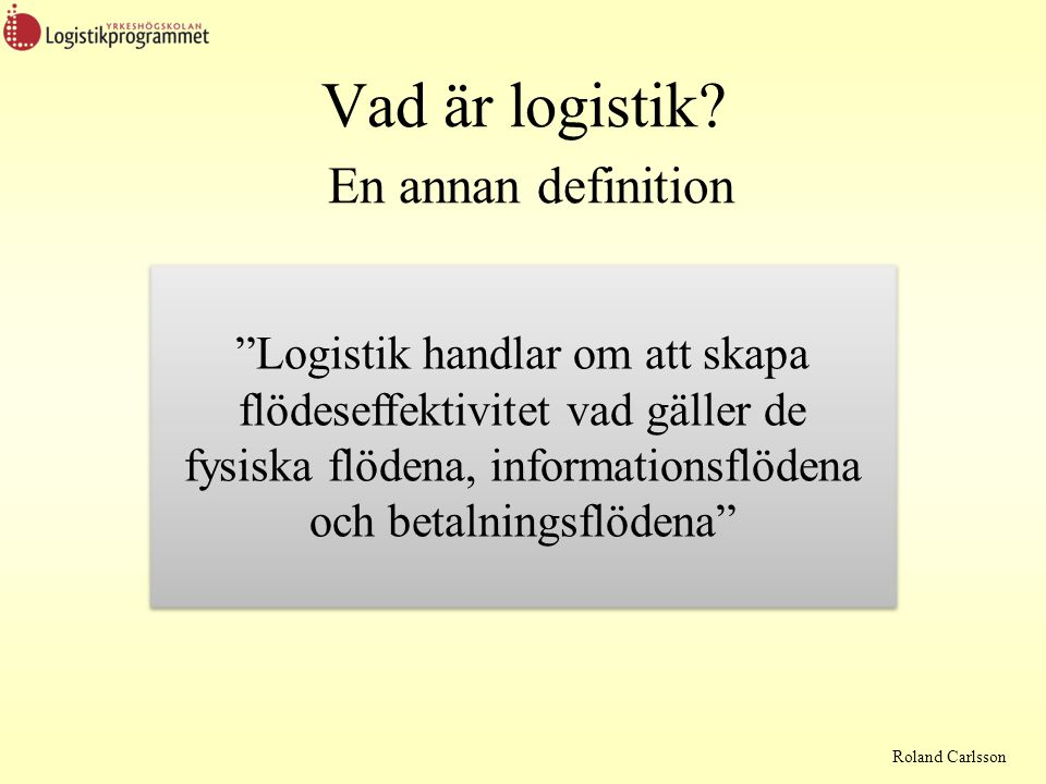 Roland Carlsson Exempel på lagringskostnader Två delar Lagerföringskostnader  Kapitalkostnader  Svinn  Inkurans  Försäkringar  Förrådskontroll (inventering)