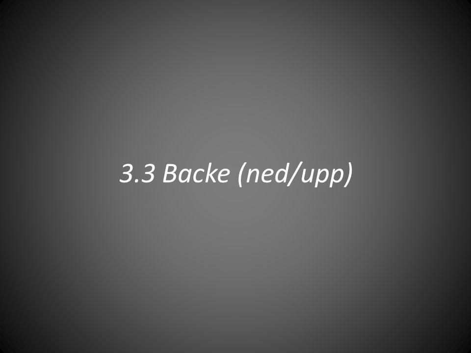3.3 Backe (ned/upp)