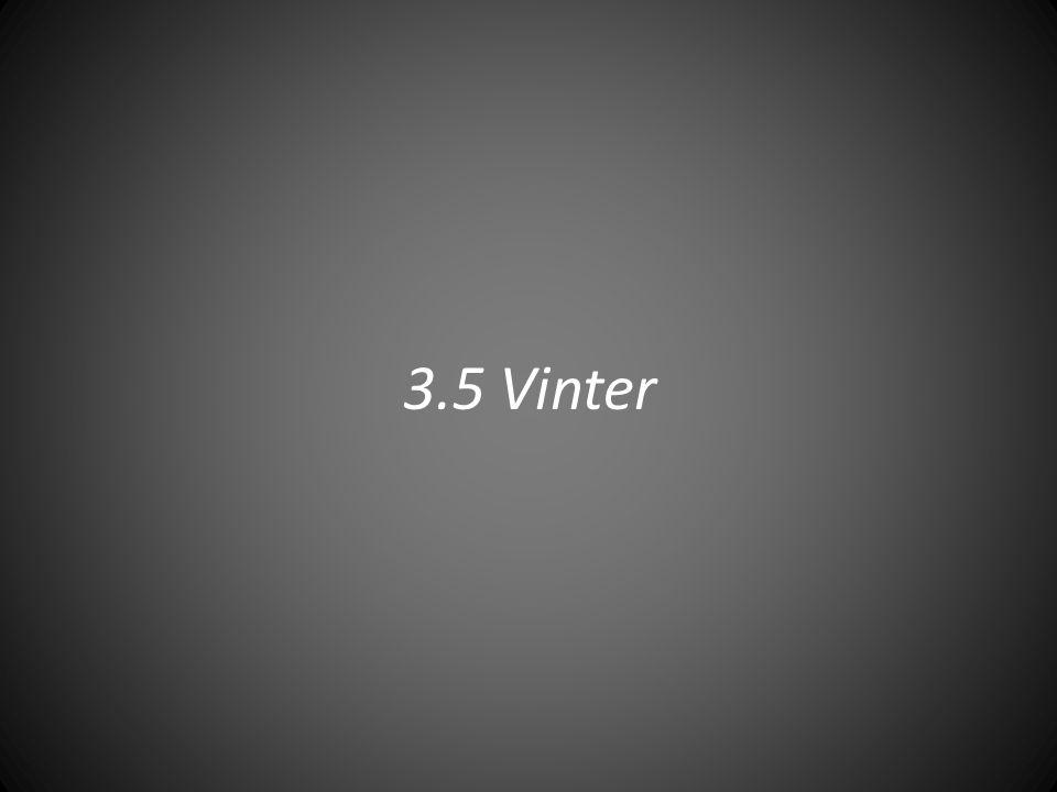 3.5 Vinter