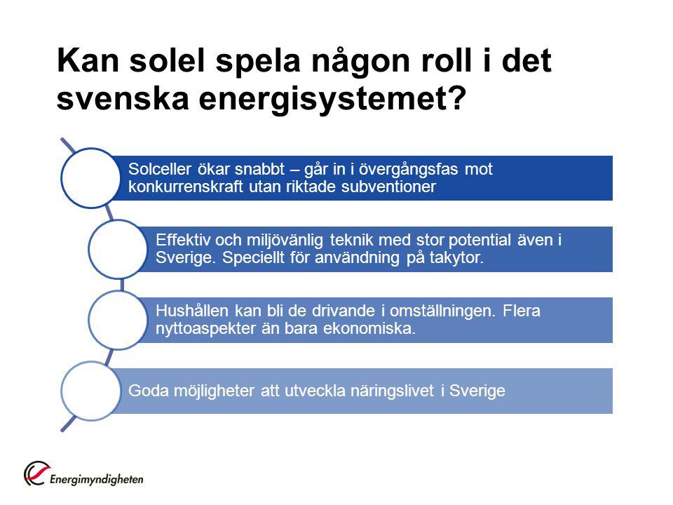 Kan solel spela någon roll i det svenska energisystemet? Solceller ökar snabbt – går in i övergångsfas mot konkurrenskraft utan riktade subventioner E