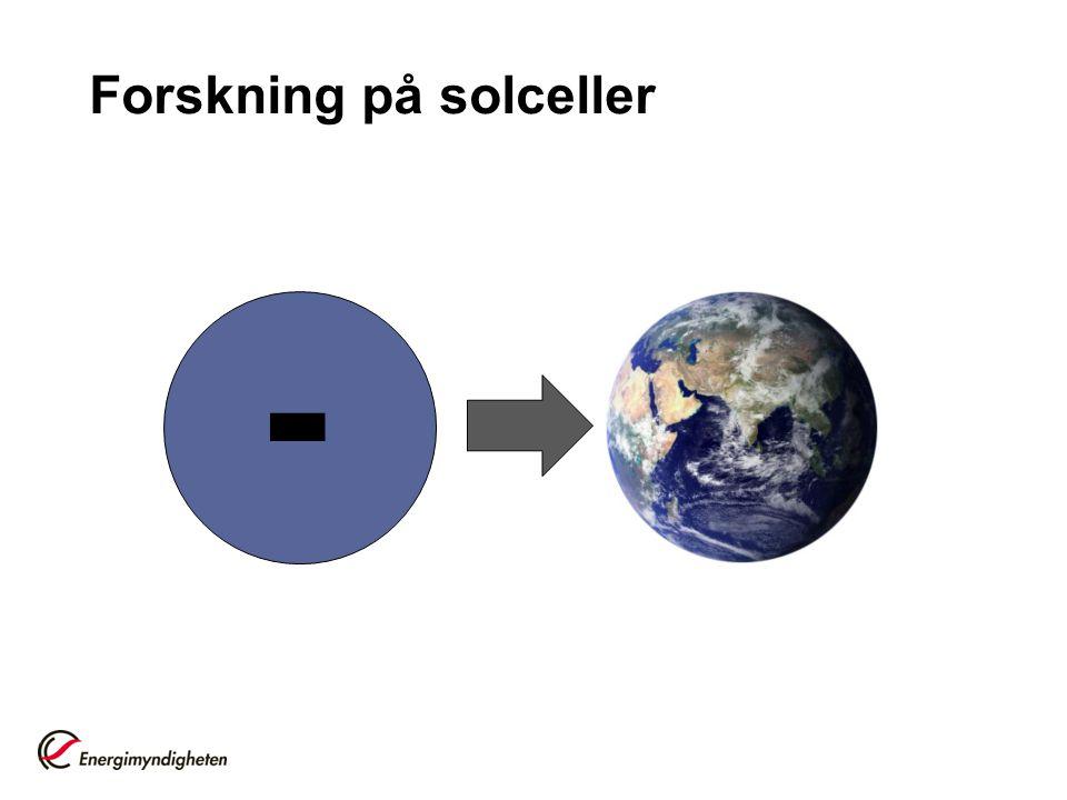 Forskning på solceller -