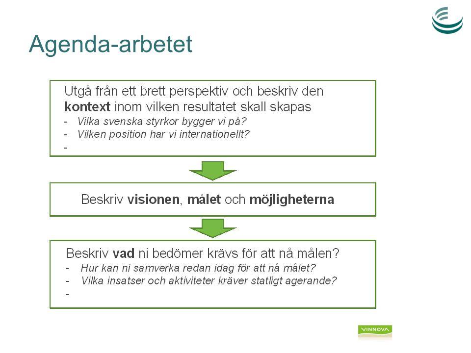 Kunskap om och anpassning till marknad  Fördjupade marknadsanalyser utifrån efterfrågan och mottaglighet (legal och finansiell status)  Prioritering och fokusering på marknader utifrån efterfrågan och mottaglighet  Utveckla kanaler till kunden på utvalda marknader via –marknadsnärvaro (via ambassader, Business Sweden, lokala partners, etc.) –utnyttjande av språkresurser och kulturkännedom som finns i Sverige  Utbildning av identiferade kanaler till utvalda marknader Kunskap och nya modeller kring finansiering  Utveckla kunskap om hur finansiering kan fås på olika håll nationellt och internationellt (världsbank etc)  Utveckla exportkreditlösningar / finansieringsformer för kunskapsrelaterad export Säljbar paketering  Tydliga och konkreta kundanpassade koncept och erbjudanden